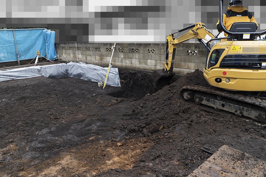 ヘーベルハウスの掘削作業