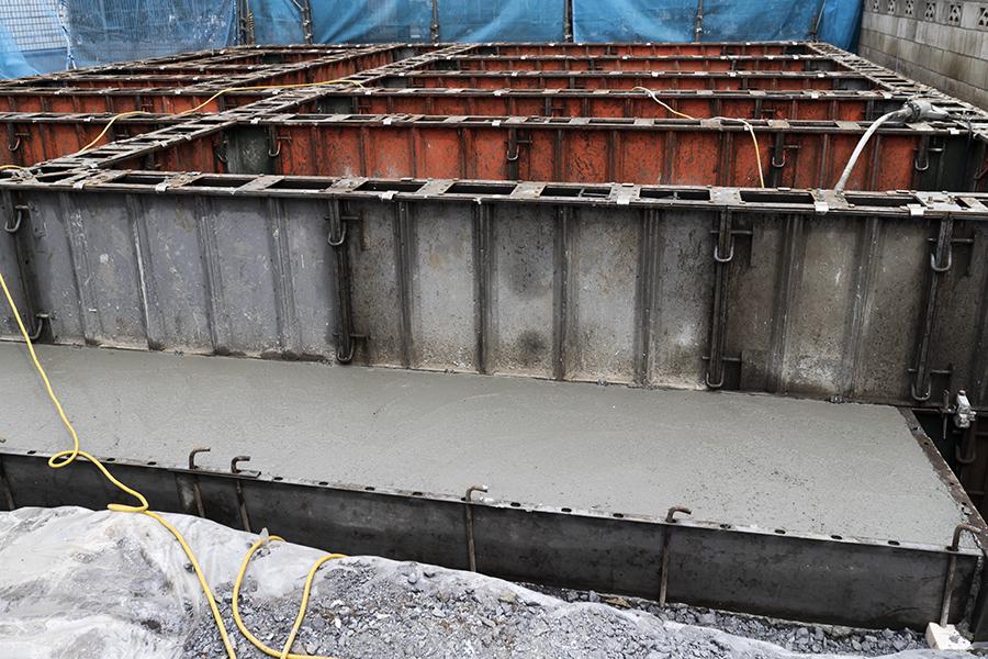 へーベルハウスの基礎工事