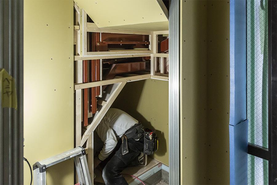 へーベルハウスの木工事